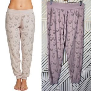 Chaser Little Skulls Cozy Knit Slouchy Jogger Pant